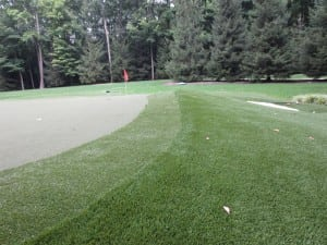 complete artificial golf turf and fringe installation
