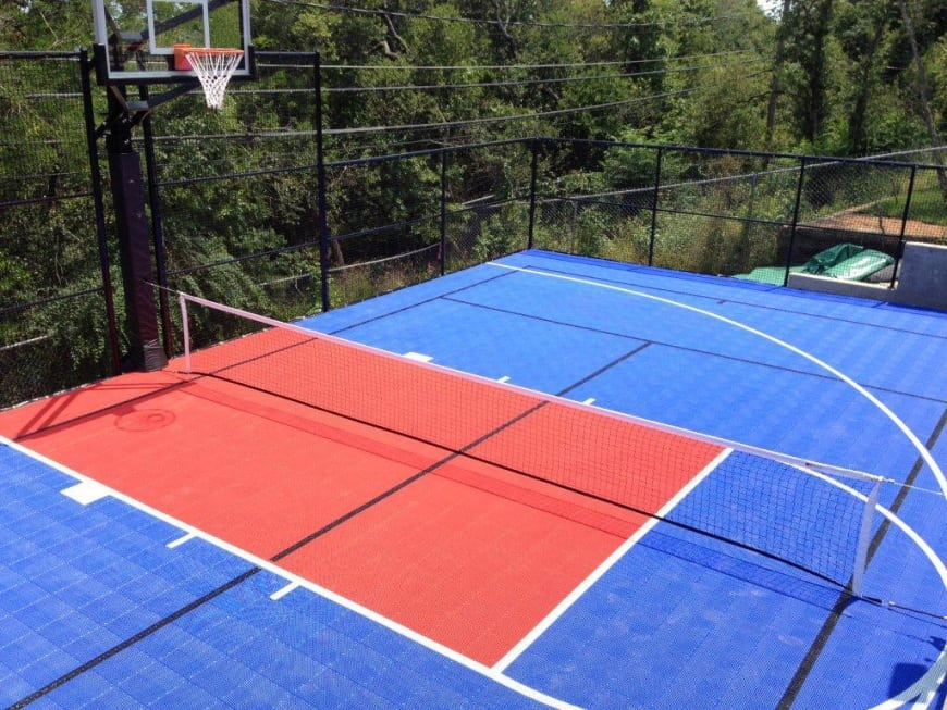 Outdoor basketball court flooring ultrabasesystems for How to build a sport court