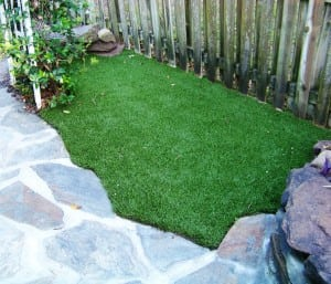 small patch of artificial grass